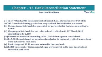 Question No.24 Chapter No.12 T.S. Grewal 1 Book 2019 Solution min min 360x202 - Bank Reconciliation Statement – T.S. Grewal 11 Class – Book Solution