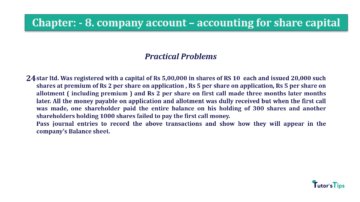 Question No.24 Chapter No.8 T.S. Grewal 2 Book 2019 Solution min min 360x202 - Chapter No. 8 - Company Accounts - Accounting for Share Capital