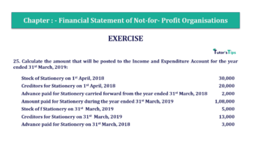 Question No.25 Chapter No.1 T.S. Grewal 2 Book Part A 2019 Solution min min 360x202 - Chapter No. 1 - Financial Statement of Not-For-Profit Organisations