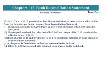 Question No.25 Chapter No.12 T.S. Grewal 1 Book 2019 Solution min min 360x202 - Bank Reconciliation Statement – T.S. Grewal 11 Class – Book Solution