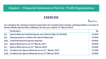 Question No.26 Chapter No.1 T.S. Grewal 2 Book Part A 2019 Solution min min 360x202 - Chapter No. 1 - Financial Statement of Not-For-Profit Organisations