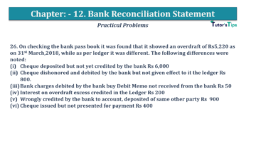 Question No.26 Chapter No.12 T.S. Grewal 1 Book 2019 Solution min min 360x202 - Bank Reconciliation Statement – T.S. Grewal 11 Class – Book Solution