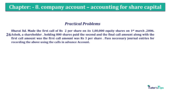 Question No.26 Chapter No.8 T.S. Grewal 2 Book 2019 Solution min min 360x202 - Chapter No. 8 - Company Accounts - Accounting for Share Capital