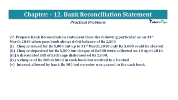 Question No.27 Chapter No.12 T.S. Grewal 1 Book 2019 Solution min min 360x202 - Bank Reconciliation Statement – T.S. Grewal 11 Class – Book Solution
