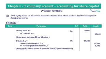 Question No.27 Chapter No.8 T.S. Grewal 2 Book 2019 Solution min min 360x202 - Chapter No. 8 - Company Accounts - Accounting for Share Capital