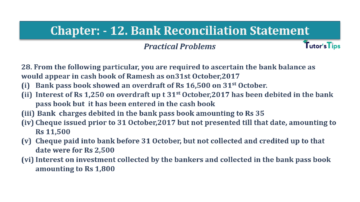 Question No.28 Chapter No.12 T.S. Grewal 1 Book 2019 Solution min min 360x202 - Bank Reconciliation Statement – T.S. Grewal 11 Class – Book Solution
