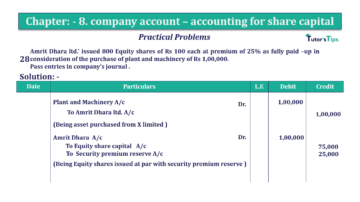 Question No.28 Chapter No.8 T.S. Grewal 2 Book 2019 Solution min min 360x202 - Chapter No. 8 - Company Accounts - Accounting for Share Capital