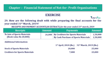 Question No.29 Chapter No.1 T.S. Grewal 2 Book Part A 2019 Solution min min 360x202 - Chapter No. 1 - Financial Statement of Not-For-Profit Organisations