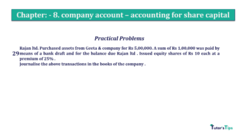 Question No.29 Chapter No.8 T.S. Grewal 2 Book 2019 Solution min min 360x202 - Chapter No. 8 - Company Accounts - Accounting for Share Capital