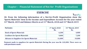 Question No.30 Chapter No.1 T.S. Grewal 2 Book Part A 2019 Solution min min 360x202 - Chapter No. 1 - Financial Statement of Not-For-Profit Organisations