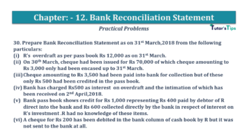 Question No.30 Chapter No.12 T.S. Grewal 1 Book 2019 Solution min min 360x202 - Bank Reconciliation Statement – T.S. Grewal 11 Class – Book Solution