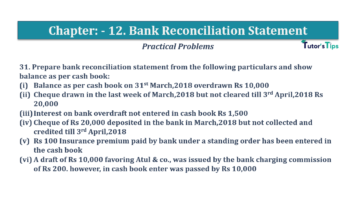 Question No.31 Chapter No.12 T.S. Grewal 1 Book 2019 Solution min min 360x202 - Bank Reconciliation Statement – T.S. Grewal 11 Class – Book Solution