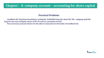 Question No.31. Chapter No.8 T.S. Grewal 2 Book 2019 Solution min min 360x202 - Chapter No. 8 - Company Accounts - Accounting for Share Capital