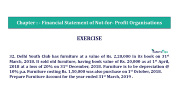Question No.32 Chapter No.1 T.S. Grewal 2 Book Part A 2019 Solution min min 360x202 - Chapter No. 1 - Financial Statement of Not-For-Profit Organisations