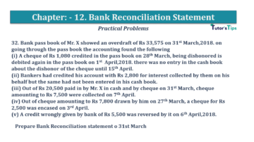 Question No.32 Chapter No.12 T.S. Grewal 1 Book 2019 Solution min min 360x202 - Bank Reconciliation Statement – T.S. Grewal 11 Class – Book Solution