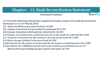 Question No.33 Chapter No.12 T.S. Grewal 1 Book 2019 Solution min min 360x202 - Bank Reconciliation Statement – T.S. Grewal 11 Class – Book Solution