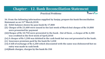 Question No.34 Chapter No.12 T.S. Grewal 1 Book 2019 Solution min min 360x202 - Bank Reconciliation Statement – T.S. Grewal 11 Class – Book Solution