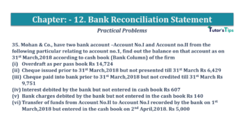 Question No.35 Chapter No.12 T.S. Grewal 1 Book 2019 Solution min min 360x202 - Bank Reconciliation Statement – T.S. Grewal 11 Class – Book Solution