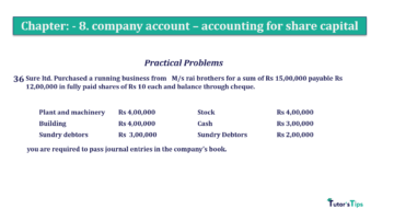 Question No.36. Chapter No.8 T.S. Grewal 2 Book 2019 Solution min min 360x202 - Chapter No. 8 - Company Accounts - Accounting for Share Capital