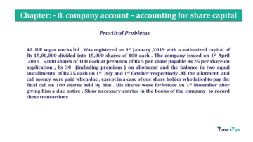 Question No.42. Chapter No.8 T.S. Grewal 2 Book 2019 Solution min min 360x202 - Chapter No. 8 - Company Accounts - Accounting for Share Capital