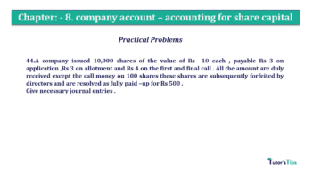 Question No.44. Chapter No.8 T.S. Grewal 2 Book 2019 Solution min min 360x202 - Chapter No. 8 - Company Accounts - Accounting for Share Capital