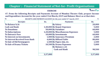 Question No.47 Chapter No.1 T.S. Grewal 2 Book Part A 2019 Solution min min 360x202 - Chapter No. 1 - Financial Statement of Not-For-Profit Organisations