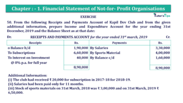 Question No.50 Chapter No.1 T.S. Grewal 2 Book Part A 2019 Solution min min 360x202 - Chapter No. 1 - Financial Statement of Not-For-Profit Organisations