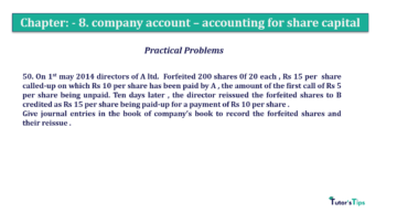 Question No.50. Chapter No.8 T.S. Grewal 2 Book 2019 Solution min min 360x202 - Chapter No. 8 - Company Accounts - Accounting for Share Capital