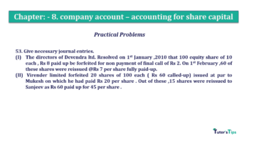 Question No.53. Chapter No.8 T.S. Grewal 2 Book 2019 Solution min min 360x202 - Chapter No. 8 - Company Accounts - Accounting for Share Capital
