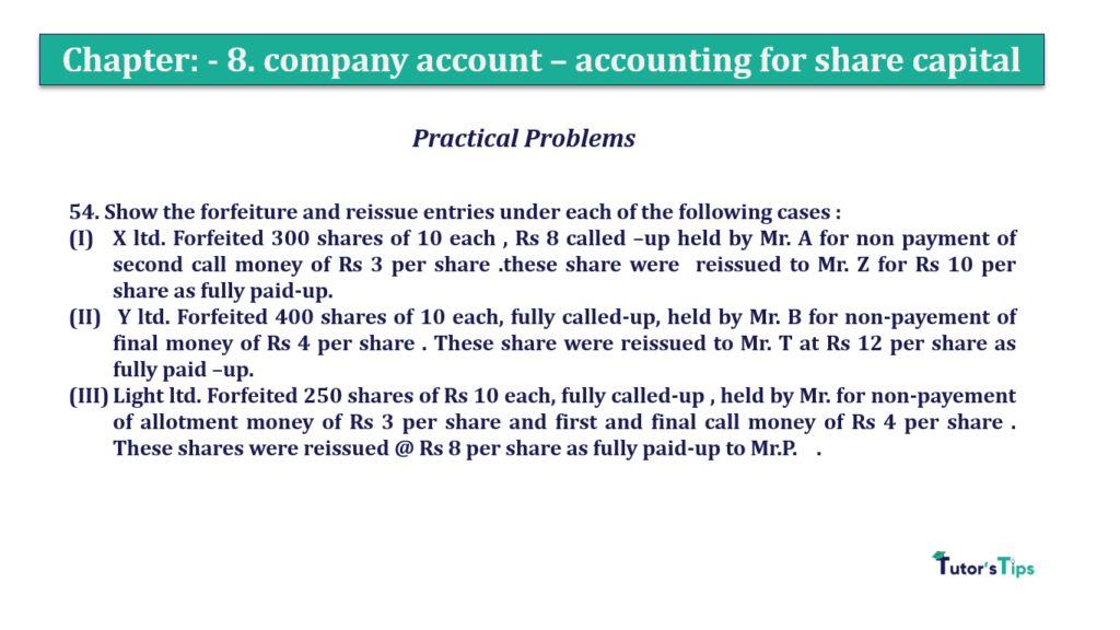 Question 54 Chapter 8 of +2-A