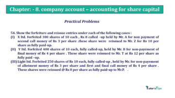 Question No.54. Chapter No.8 T.S. Grewal 2 Book 2019 Solution min min 360x202 - Chapter No. 8 - Company Accounts - Accounting for Share Capital