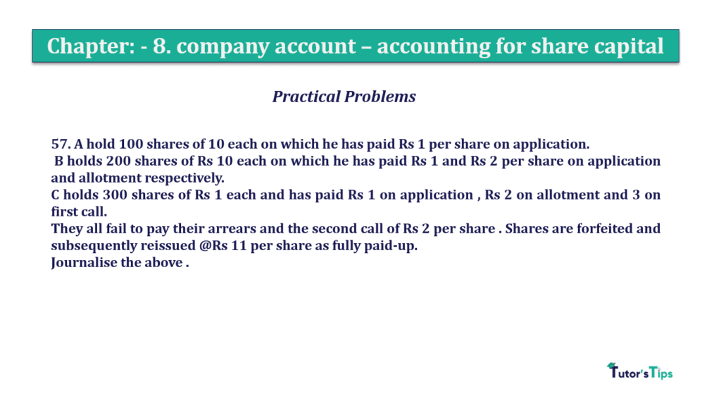 Question 57 Chapter 8 of +2-A