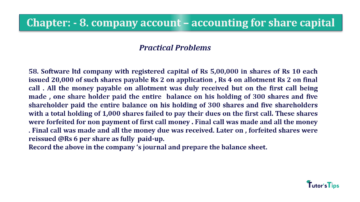Question No.58. Chapter No.8 T.S. Grewal 2 Book 2019 Solution min min 360x202 - Chapter No. 8 - Company Accounts - Accounting for Share Capital