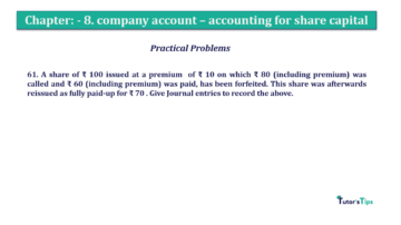 Question No.61. Chapter No.8 T.S. Grewal 2 Book 2019 Solution min min 360x202 - Chapter No. 8 - Company Accounts - Accounting for Share Capital