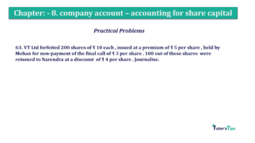 Question No.63. Chapter No.8 T.S. Grewal 2 Book 2019 Solution min min 360x202 - Chapter No. 8 - Company Accounts - Accounting for Share Capital