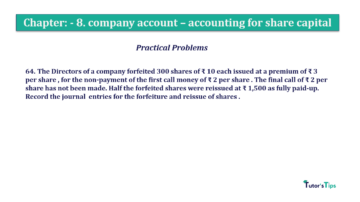 Question No.64. Chapter No.8 T.S. Grewal 2 Book 2019 Solution min min 360x202 - Chapter No. 8 - Company Accounts - Accounting for Share Capital