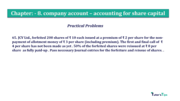 Question No.65. Chapter No.8 T.S. Grewal 2 Book 2019 Solution min min 360x202 - Chapter No. 8 - Company Accounts - Accounting for Share Capital
