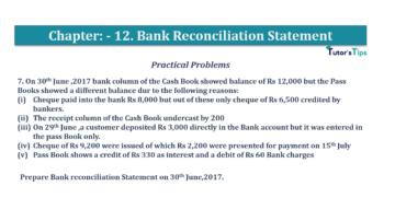 Question No.7 Chapter No.12 T.S. Grewal 1 Book 2019 Solution min min 360x202 - Bank Reconciliation Statement – T.S. Grewal 11 Class – Book Solution