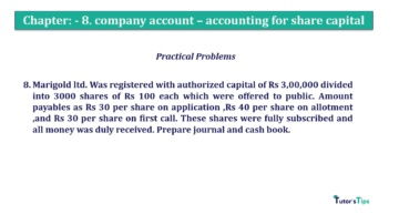 Question No.8 Chapter No.8 T.S. Grewal 2 Book 2019 Solution min min 360x202 - Chapter No. 8 - Company Accounts - Accounting for Share Capital
