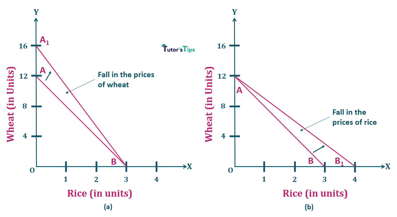 7.Fall in price of one commodity Properties of Budget Line 1 - Consumer's Budget- Budget set and Budget Line
