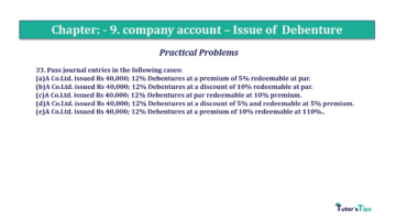 Question No 33 Chapter No.9 T.S. Grewal 2 Book 2019 Solution min min 360x202 - Chapter No. 9 - Issue of Debentures - Solution - Class 12