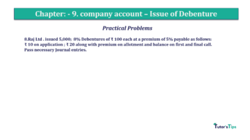 Question No 8 Chapter No.9 T.S. Grewal 2 Book 2019 Solution min min 360x202 - Chapter No. 9 - Issue of Debentures - Solution - Class 12