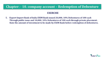 Question No. 05 Chapter No.10 T.S. Grewal 2 Book Part B min 360x202 - Chapter No. 10 - Redemption of Debentures - Solution - Class 12