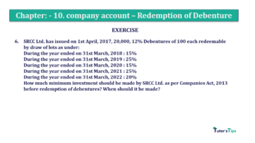 Question No. 06 Chapter No.10 T.S. Grewal 2 Book Part B min 360x202 - Chapter No. 10 - Redemption of Debentures - Solution - Class 12