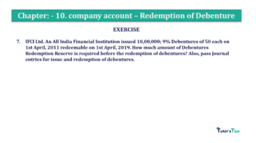 Question No. 07 Chapter No.10 T.S. Grewal 2 Book Part B min 360x202 - Chapter No. 10 - Redemption of Debentures - Solution - Class 12