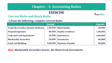 Question No. 1 Chapter No.4 T.S. Grewal 2 Book Part B min 360x202 - Chapter No. 4 - Accounting Ratios - Solution - Class 12