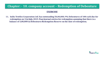 Question No. 11 Chapter No.10 T.S. Grewal 2 Book Part B min 360x202 - Chapter No. 10 - Redemption of Debentures - Solution - Class 12