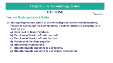 Question No. 14 Chapter No.4 T.S. Grewal 2 Book Part B min 360x202 - Chapter No. 4 - Accounting Ratios - Solution - Class 12