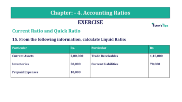 Question No. 15 Chapter No.4 T.S. Grewal 2 Book Part B min 360x202 - Chapter No. 4 - Accounting Ratios - Solution - Class 12
