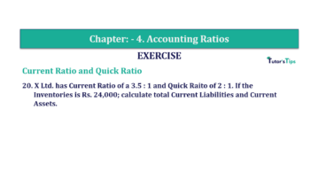 Question No. 20 Chapter No.4 T.S. Grewal 2 Book Part B min 360x202 - Chapter No. 4 - Accounting Ratios - Solution - Class 12